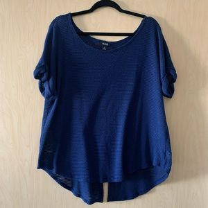 a.n.a | Blue Blouse with Split Back | XL